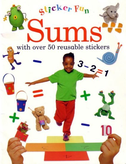 KINDERGARTEN - Teach your child MATH with FUN Re-Useable Sticker Activity Book