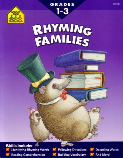FIRST, SECOND & THIRD GRADES - Teach your child RHYMING FAMILIES