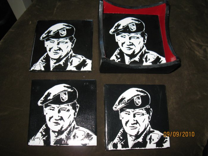 "John Wayne ""The Duke"" Handpainted Ceramic Tile Coasters"