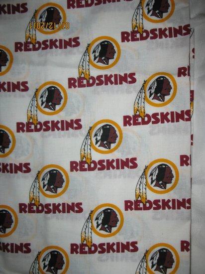 Set of 2 Washington Redskins King Size Pillow Case - Handmade