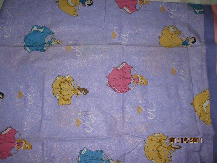 Set of 2 Princess Standard Size Pillow Cases - Handmade