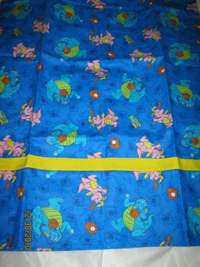 Sesame Dragon Tales Flannel Standard Pillow Case