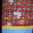Set of 2 Fire Department Flannel Standard Pillow Cases-Handmade
