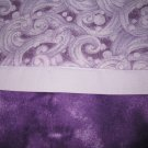 Set of 2 Purple Passion Flannel Standard Pillow Cases-Handmade