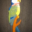 Macaw Wood Intarsia Wall Hanging-Handcrafted