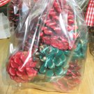 8 Hand Dipped Pine Cone Fire Starters - Winter Spruce & Apple Cinnamon
