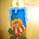 Gingerbread Man Thyme Candle Handcrafted  Wooden Christmas Ornament