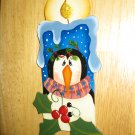 Penguin Thyme Candle Wooden Handcrafted Christmas Ornament
