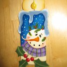 Snowman Thyme Candle  Handcrafted Wooden Christmas Ornament