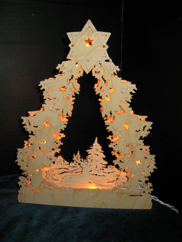 Handcrafted Winter Wonderland  Lighted German Arch (Lichterbogen)