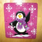Waving Penguin Glass Christmas Ornament- 100% Handcrafted