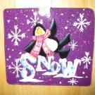 Penguin on Snow Glass Christmas Ornament- 100% Handcrafted