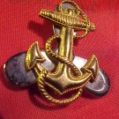 US Navy Anchor Propeller Sterling Silver and Gold Filled Pin