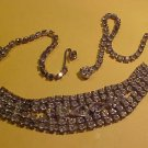Rhinestone Necklace vintage. 16""