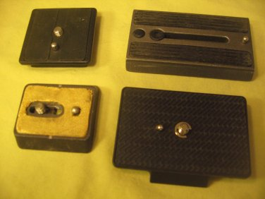 4 Quick Release slide plates for video and 35mm various cameras