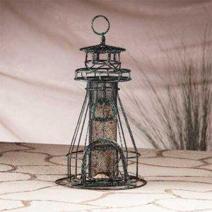 Metal Lighthouse Birdfeeder #31176