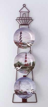 Porcelain Lighthouse Plates Set #33768