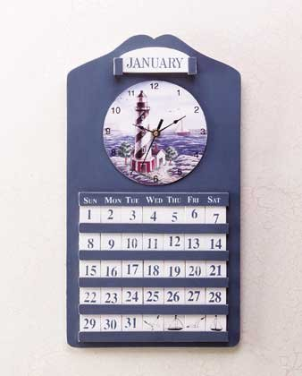 Lighthouse Clock and Perpetual Calendar #33773