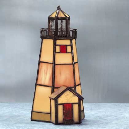 Lighted Stain Glass Lighthouse #25206