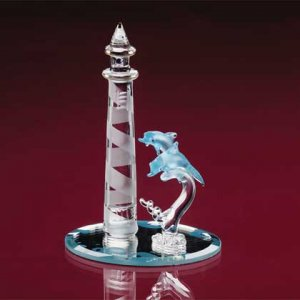 Glass Lighthouse and Dolphins #33919