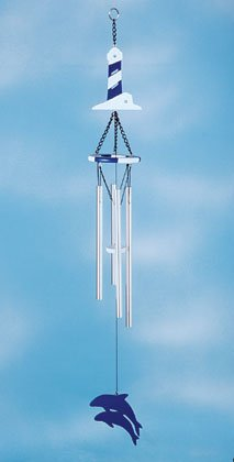 Wood Lighthouse Wind Chime #34060