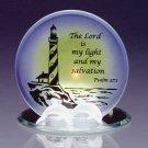 Glass Psalm 27 Verse 1 Candleholder  #34125