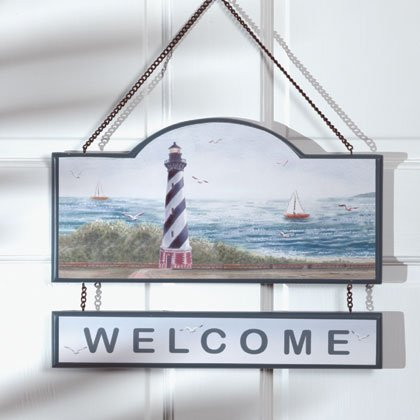 Lighthouse Welcome Sign #35329
