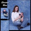 """ELECTRIC BLUE"" PREMIUM MUSLIN BACKDROP BACKGROUND 6X9"