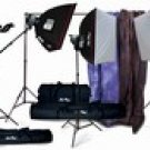 Vu-Pro Complete Pro Package #2 Photo Lighting, Backdrops, Backdrop Stand, Digital Backdrops Kit