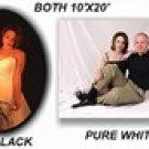 10x20 Black/White Muslin Combo