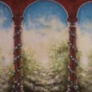 20-093  Special 8X10 Hand Painted Scenic Backdrop