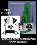 Complete Green Screen Wizard Portable Studio Package #1