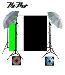 Vu-Pro Complete Basic Home Photography Studio Package, Photo Lighting, Photography Backdrop Stands,