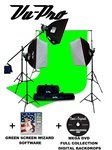 Vu-Pro Complete Digital Pro Photography Studio Package With 3000 Watt Softbox Lighting Kit, Backdrop