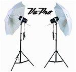 Vu-Pro 320 W/S Double Umbrella Strobe Photo Lighting Kit