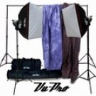 Vu-Pro Complete Pro Package #1 Photo Lighting, Backdrops, Backdrop Stand, Digital Backdrops Kit