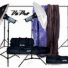 Vu-Pro Complete Pro Package #3 Photo Lighting, Backdrops, Backdrop Stand, Digital Backdrops Kit
