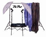 Vu-Pro Complete Home Studio Package #1 Includes Lights, Stands, Backdrops