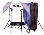 Vu-Pro Complete Home Photography Studio Package #2 Lighting, Backdrops, Digital Backdrops