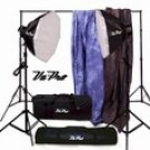 Vu-Pro Complete Pro Package #5 Photo Lighting, Backdrops, Backdrop Stand, Digital Backdrops Kit