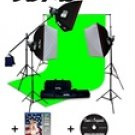 Vu-Pro Complete Digital Pro Photography Studio Package With 3000 Watt Softbox Lighting Kit, Backdrop