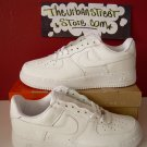 NIKE AIR FORCE ONE ALL WHITE LOW TOPS MENS SIZE 9