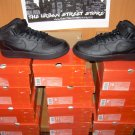 WHOLESALE LOT OF 12 PAIRS AF1 ALL BLACK TOPS