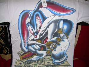BRAND NEW MONEY HUNGRY BUGS BUNNY BIG T SHIRT
