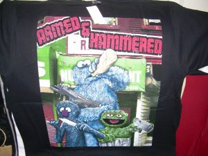 NEW COOKIE MONSTER OSCAR GROVER BIG TSHIRT