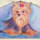 Yorshire terrier Yorkie Puppy Dog art wood leash key holder