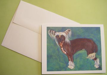 Chinese Crested  portrait - Personalized Notecards