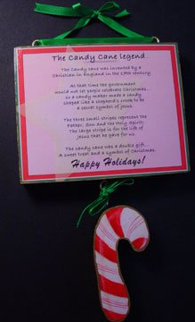 Candy cane legend Christmas handmade wood sign Holiday Gift