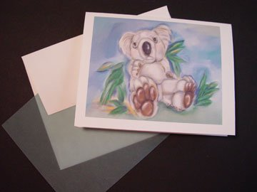 Koala Baby- Personalized Notecards Timeless Memories Art