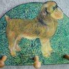 Brussels Griffon dog portrait leash holder - rack key holder